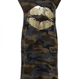 Continue - Kjole - Dicte Dress - Army Camouflage